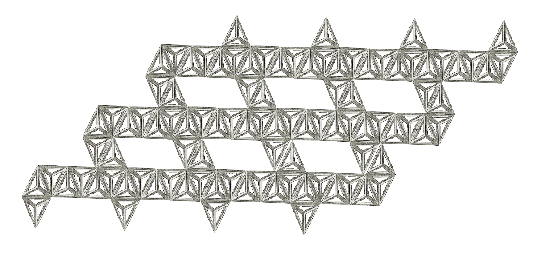 Tetrahedral basic units in chain hellix connection.
