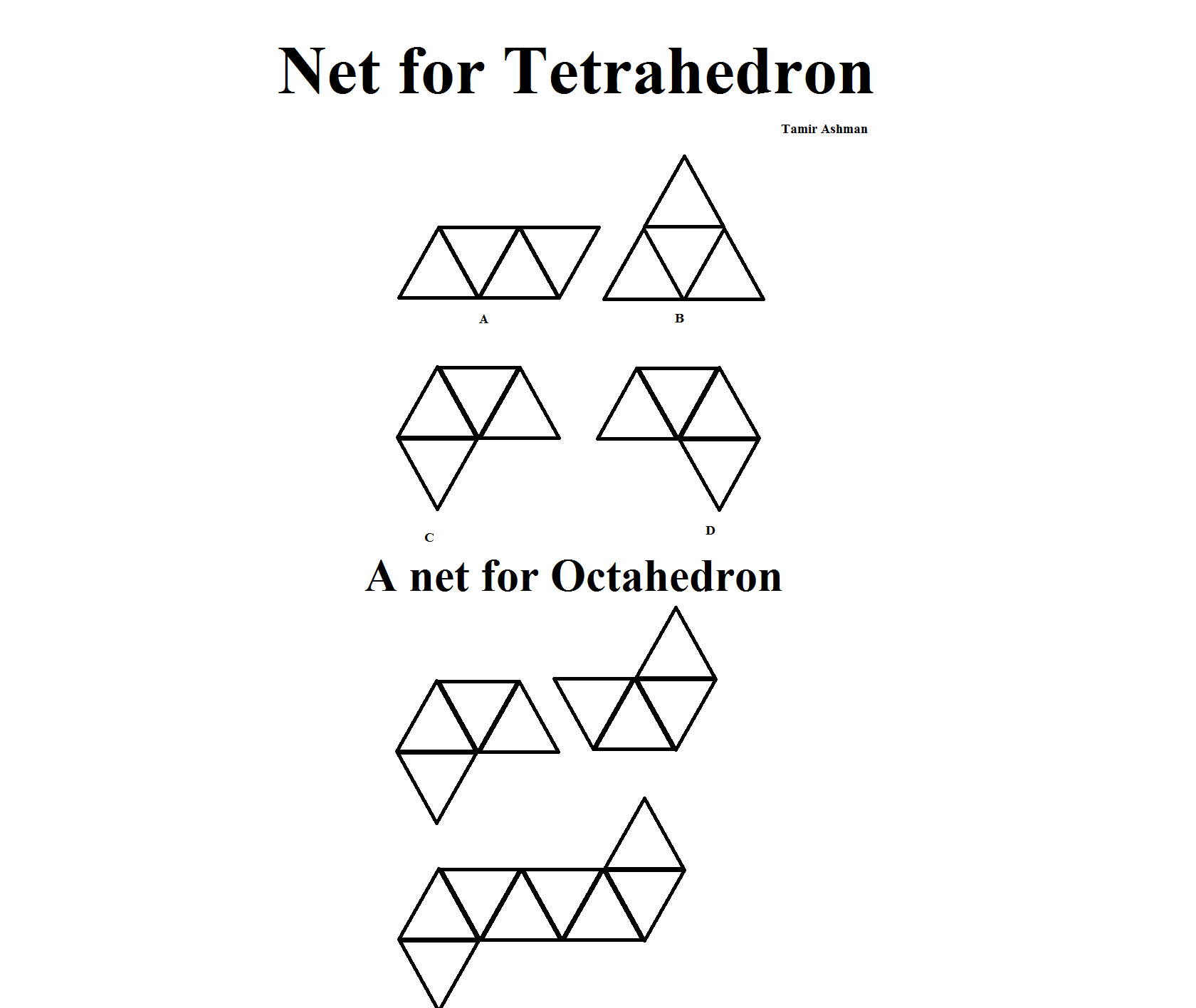 Nets  for a tetrahedron